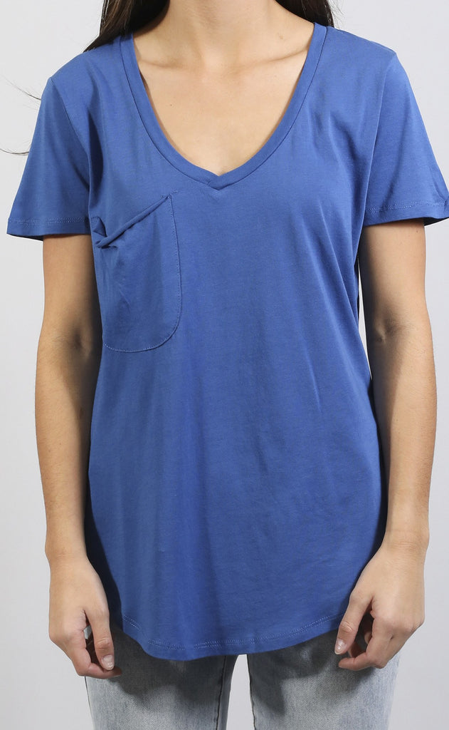 z supply: nicole pocket t shirt - blue
