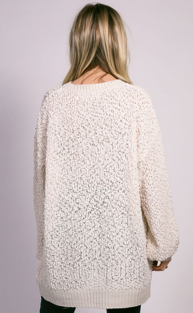 night in knit sweater