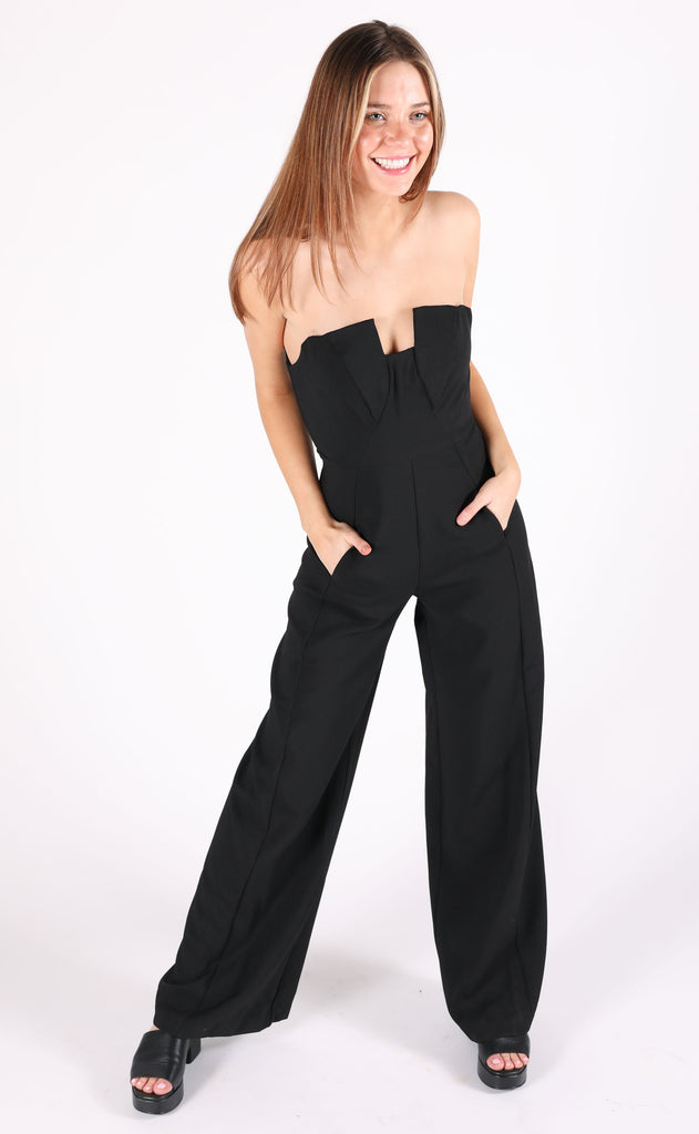night out bustier jumpsuit