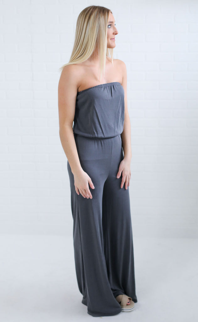 no brainer strapless jumpsuit