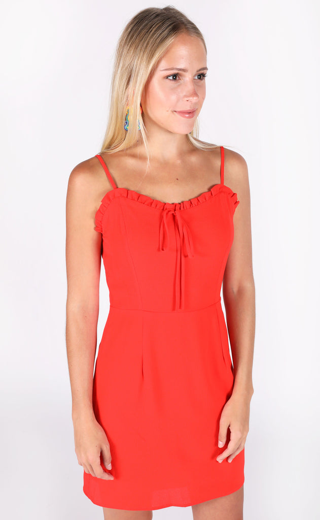 no problems ruffle dress
