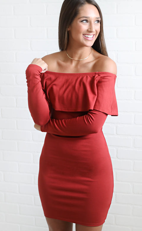no promises off the shoulder dress