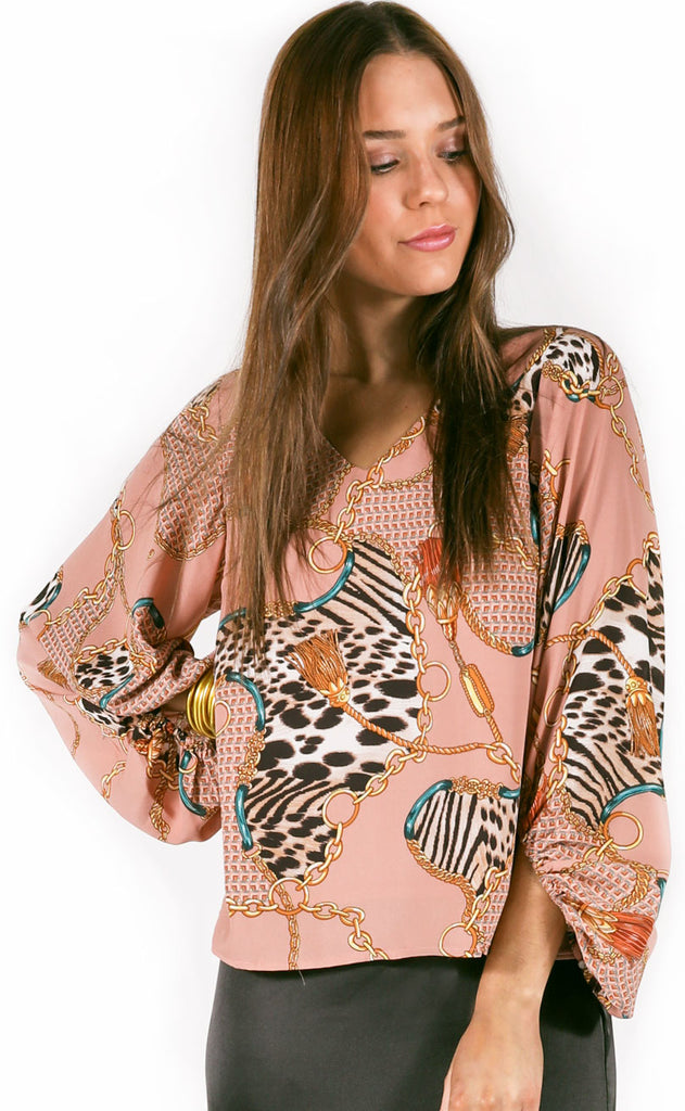 off the chain printed top