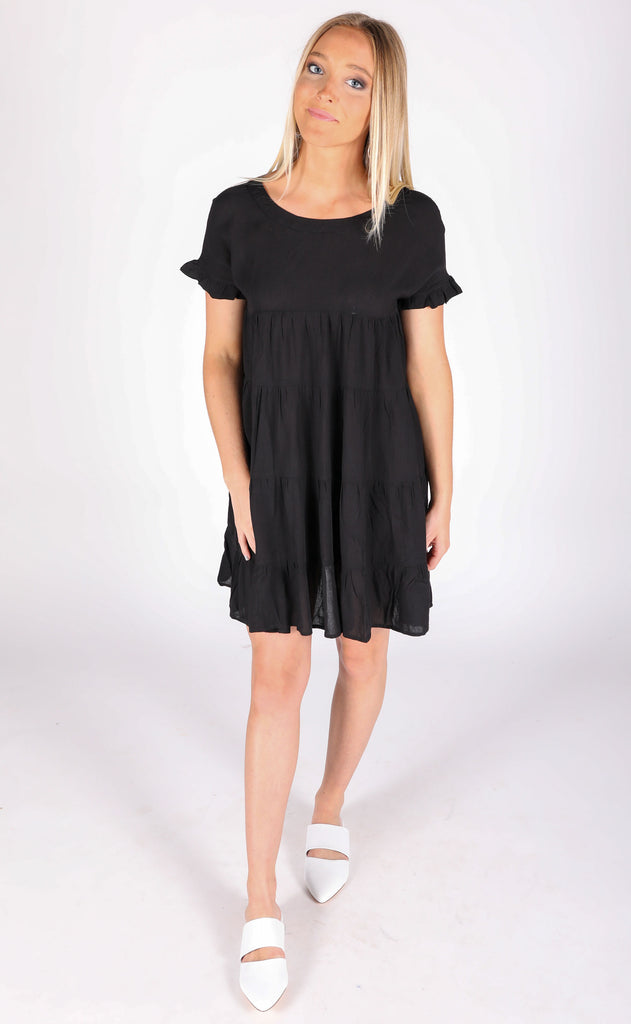 ooh la la babydoll dress - black