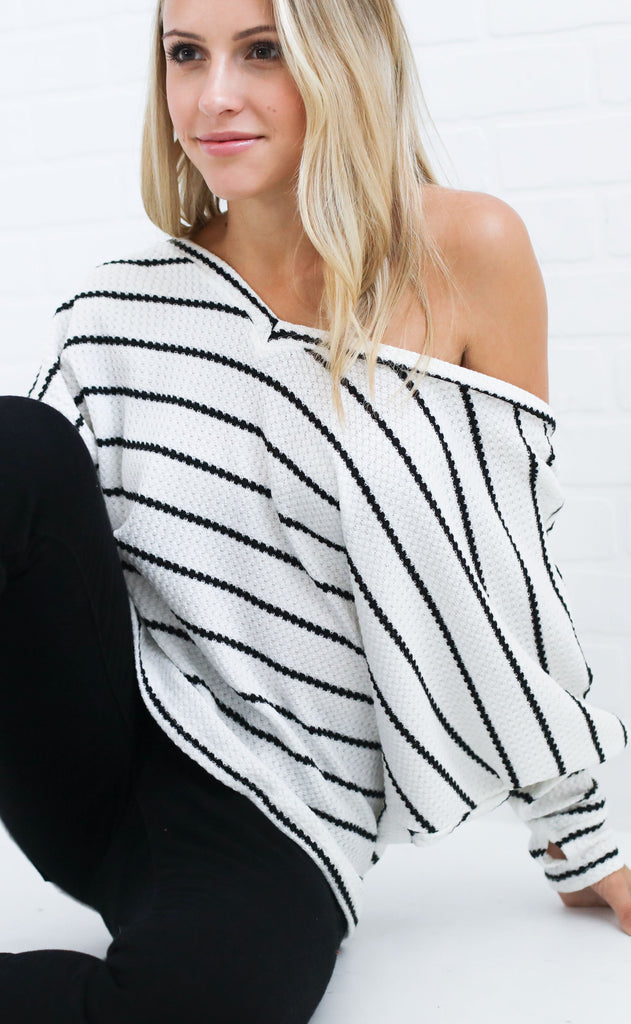 on stripe thermal top