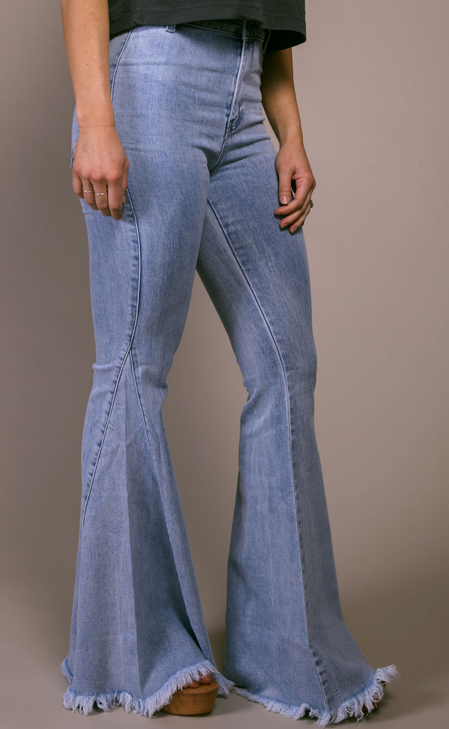 on rewind flare jeans