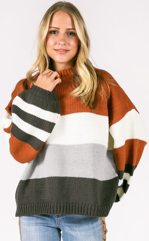 on rewind striped sweater