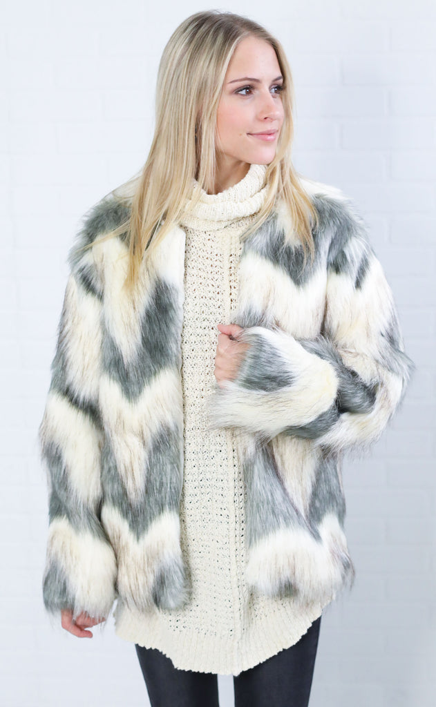 on the town fur coat