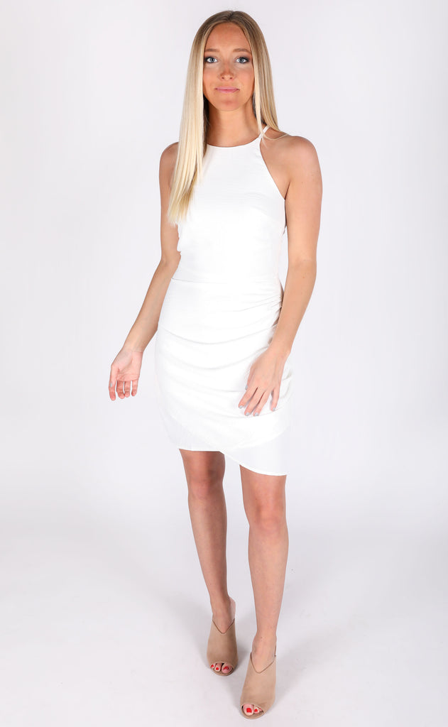 on the town tank dress - ivory