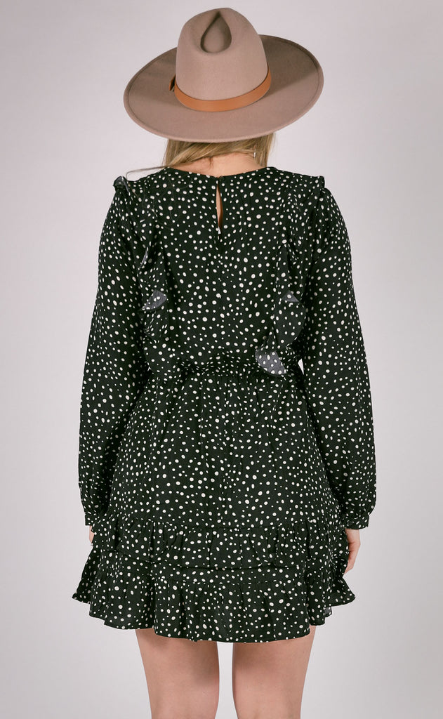 on the dot printed dress