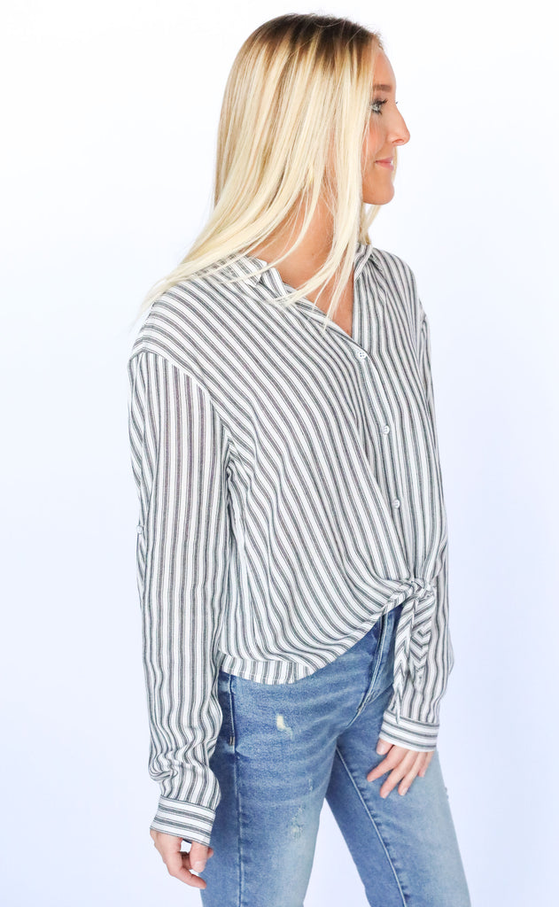 on the outs striped top