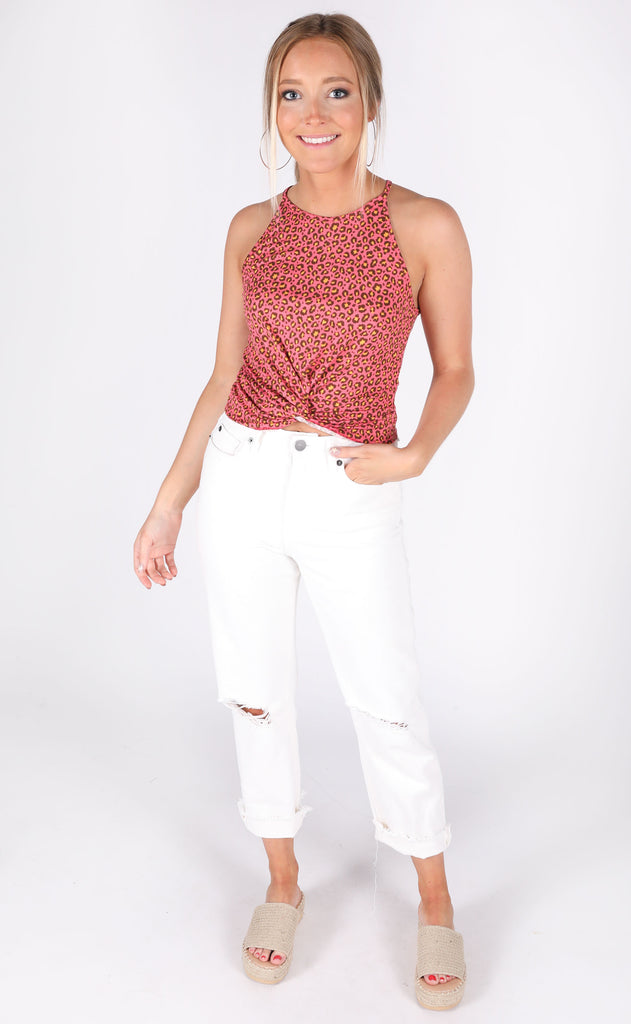 on the prowl printed top