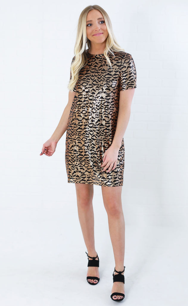 on the prowl sequin dress