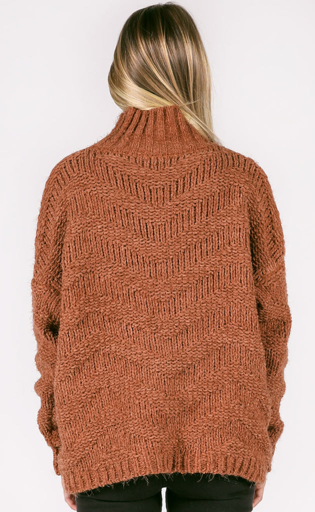 on the road knit sweater