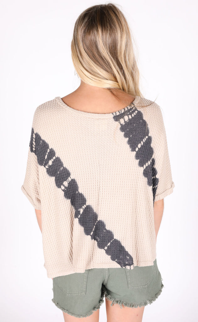 on the run waffle knit top