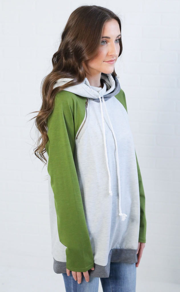 on the run pullover - green