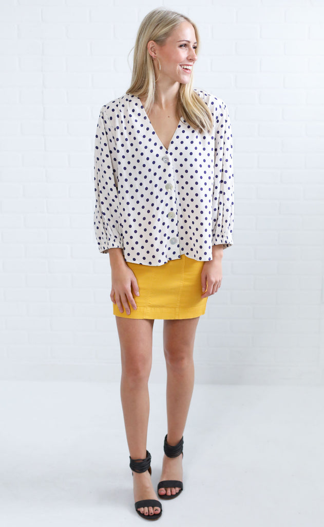 on the spot printed top