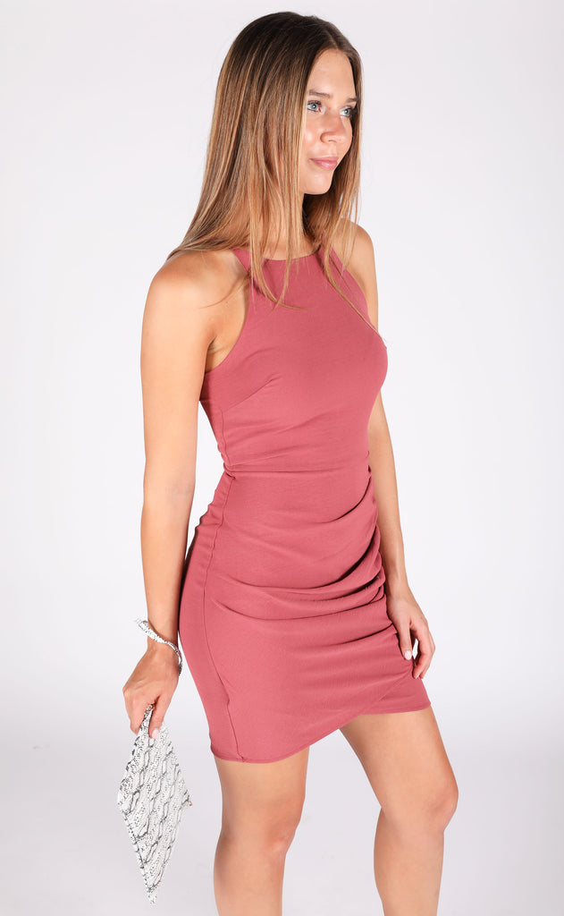on the town tank dress - mauve