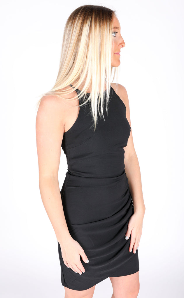 on the town tank dress - black
