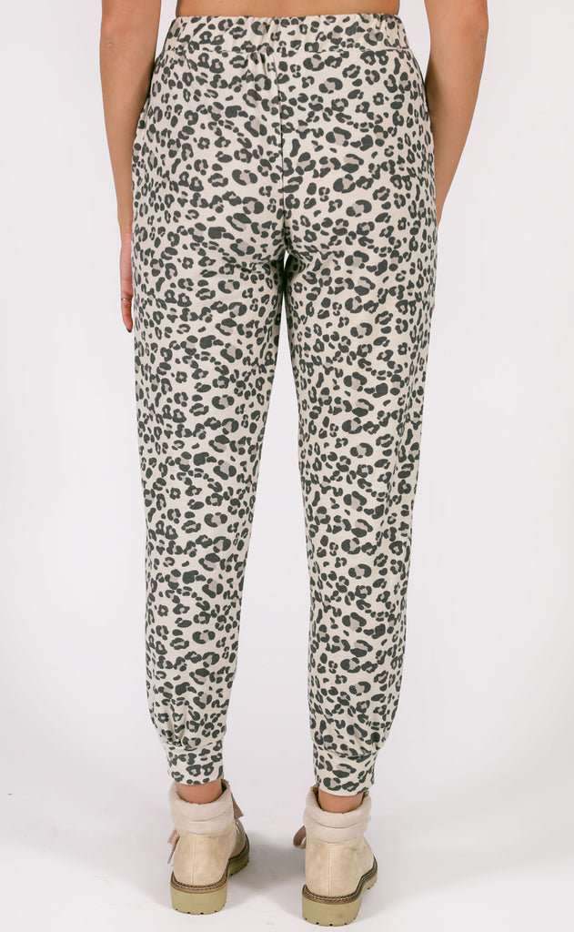 on track leopard joggers