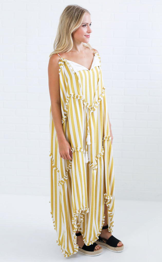 on vacay striped dress
