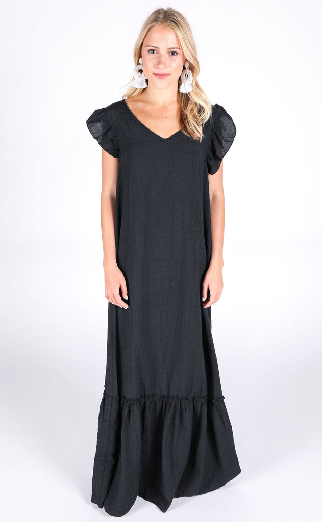 one and only maxi dress - black