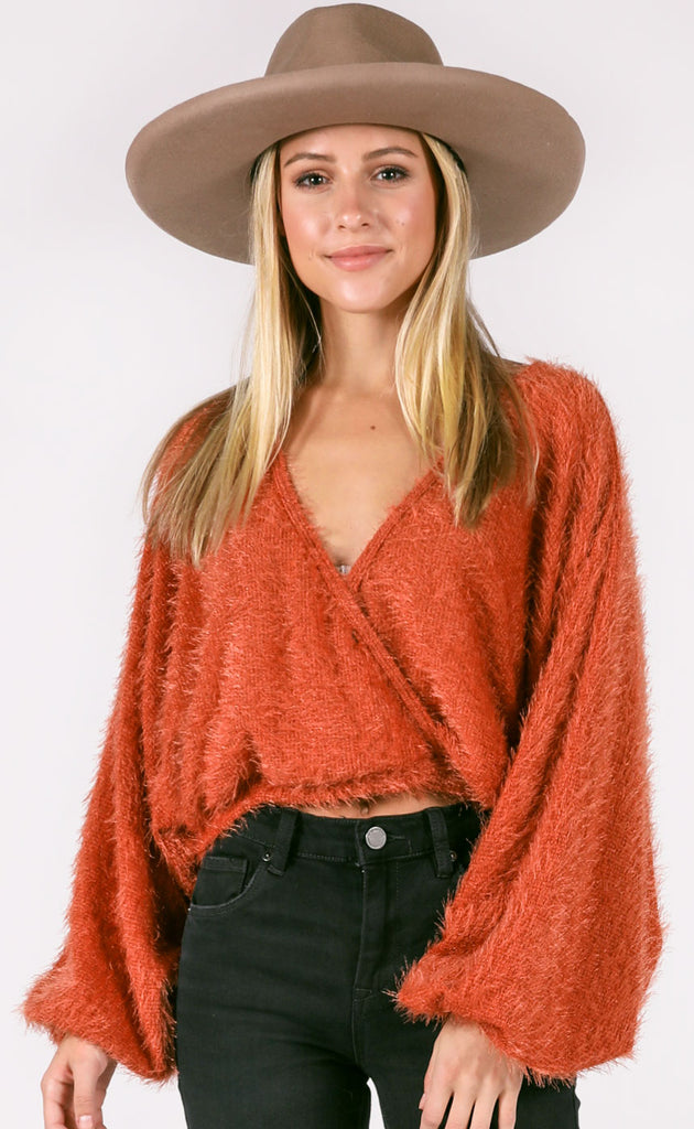 one knit wonder fuzzy top