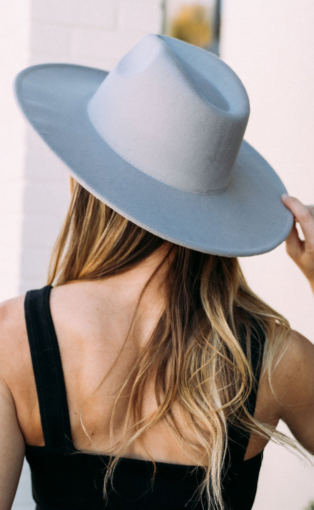 out west felt hat - grey