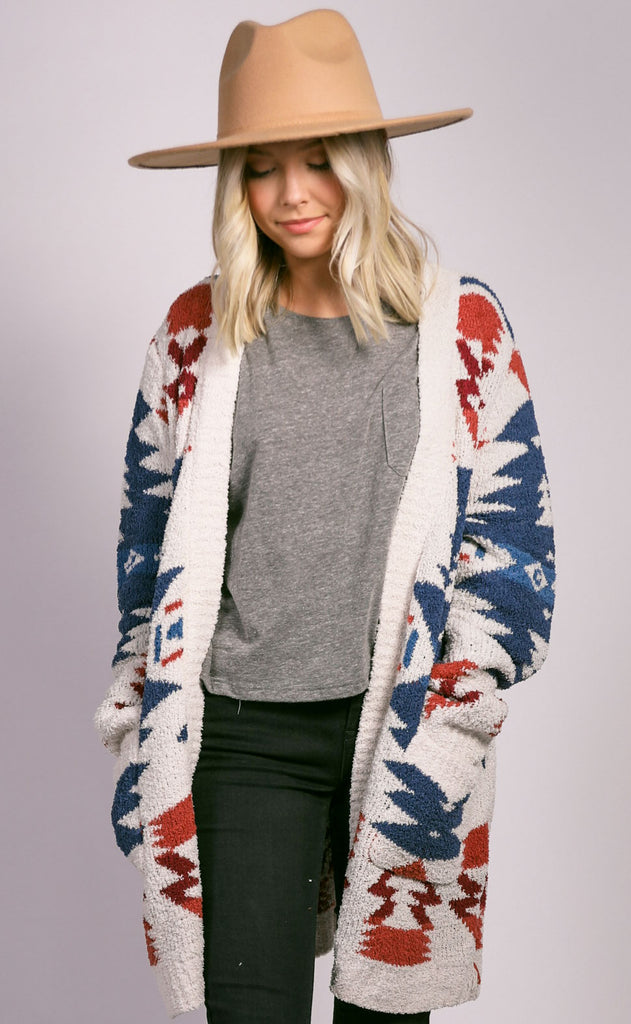 outer limits knit cardigan - ivory