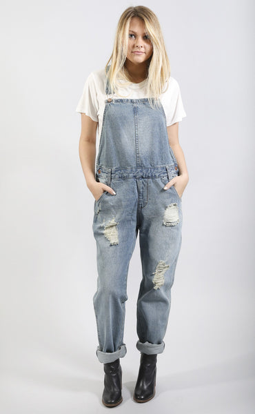 baby blues denim overalls