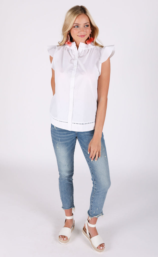 oxford button up top