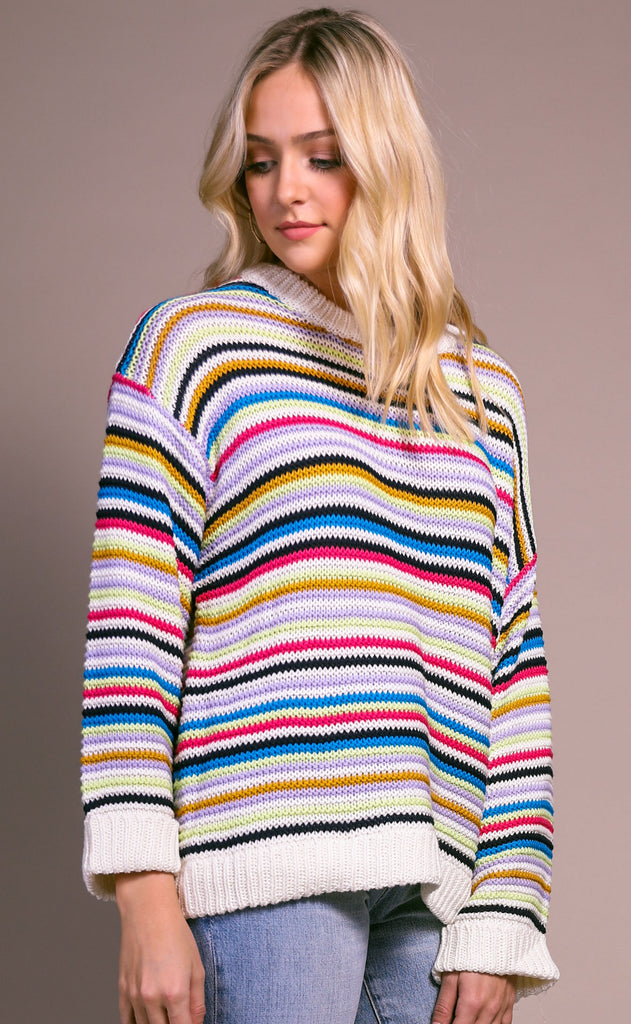 pack a punch striped sweater