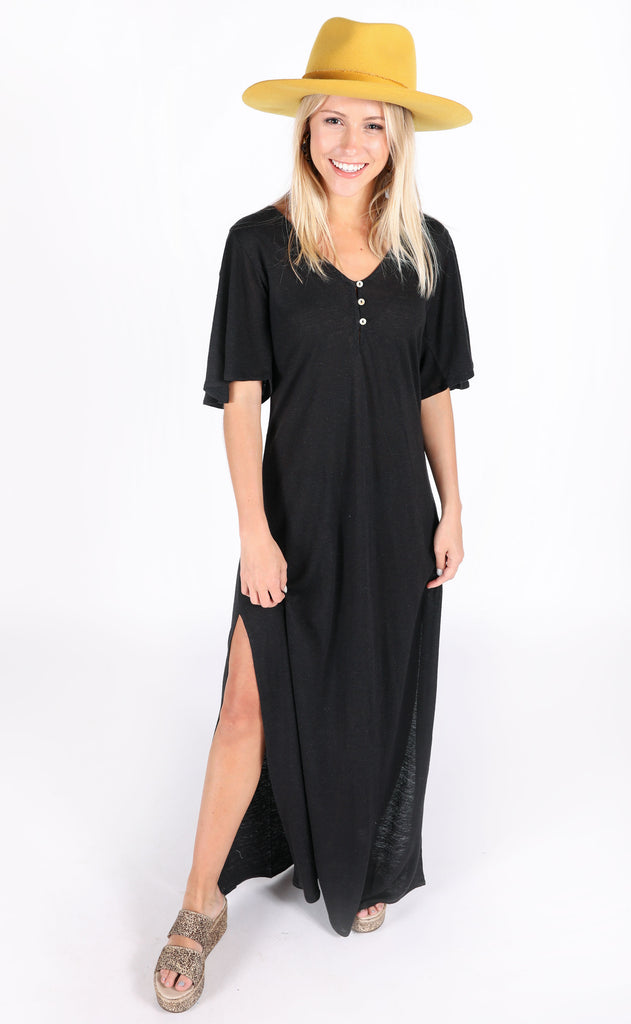 amuse society: padma dress - black
