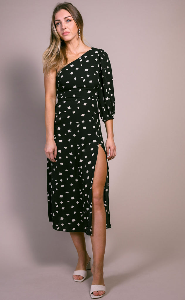 painted perfection midi dress