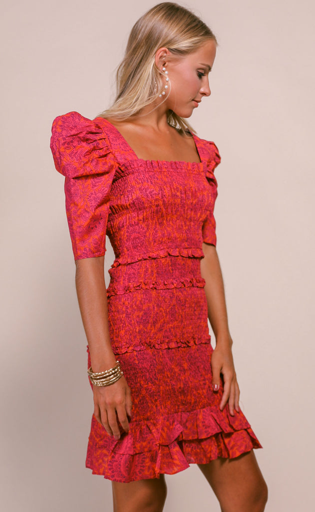 paisley perfection ruffle dress