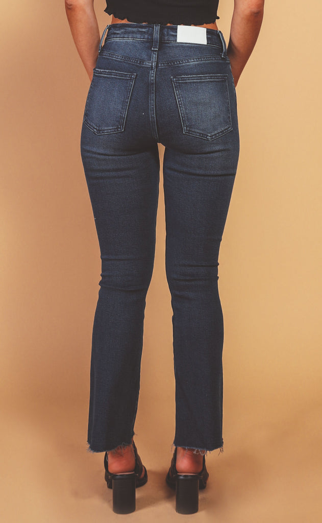 pistola: lennon high rise cropped boot jeans - before sunrise