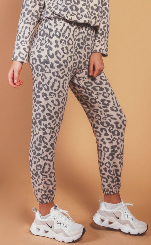 lounge in leopard drawstring pants