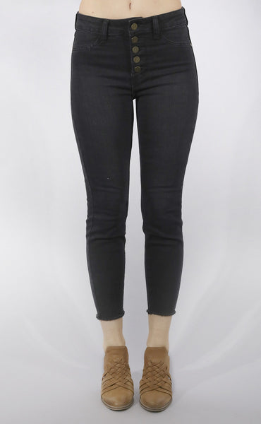 parker high rise skinny jeans - grey