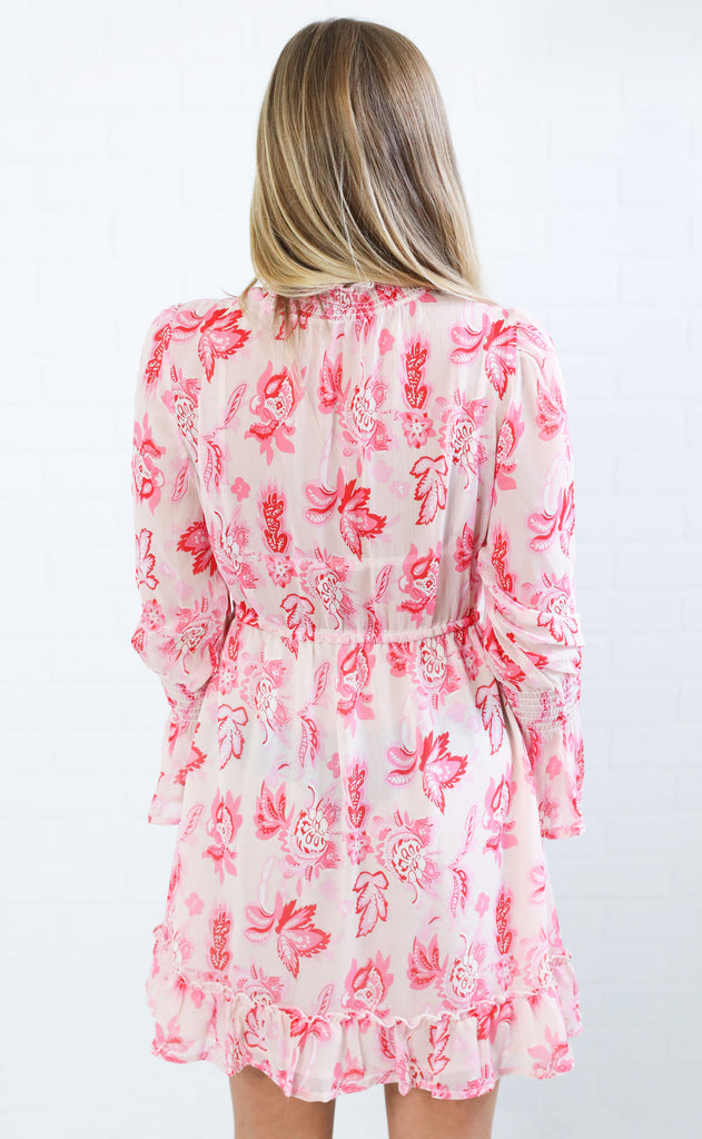 paisley perfection printed dress