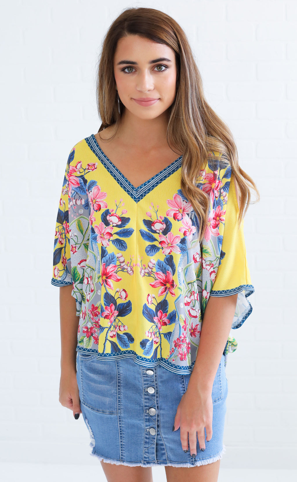 pattern play cutout top