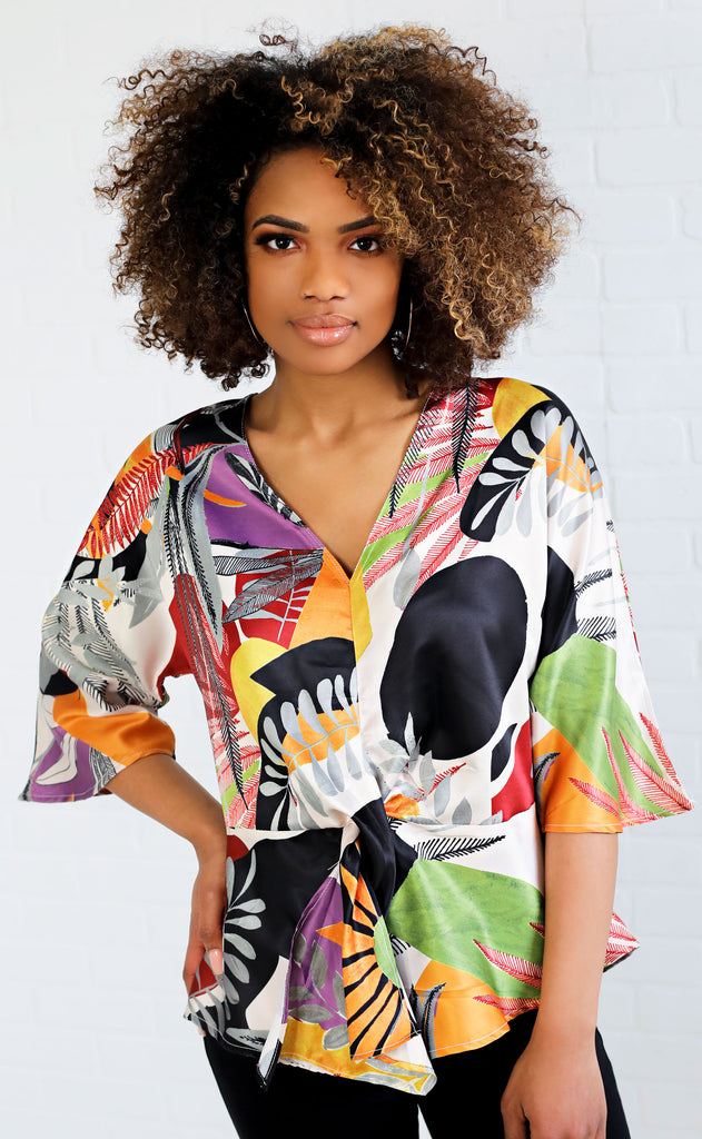 pattern play printed top