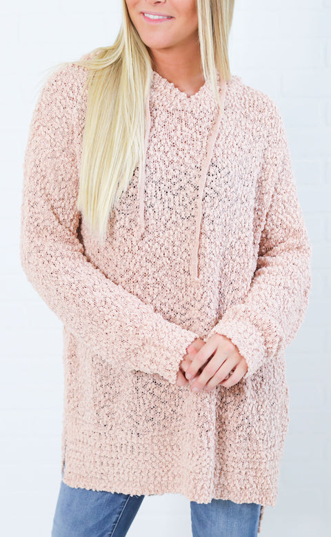 perfectly plush oversized sweater - blush