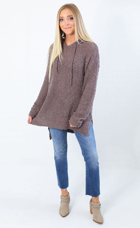 perfectly plush oversized sweater - mocha