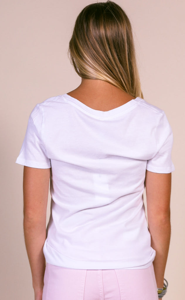 z supply: the perfect v-neck - white