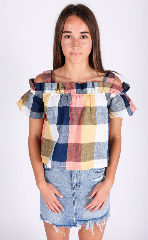picnic in the park woven top