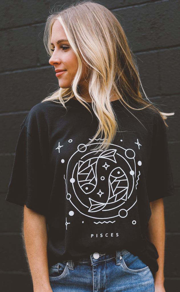 friday + saturday: zodiac t shirt - pisces