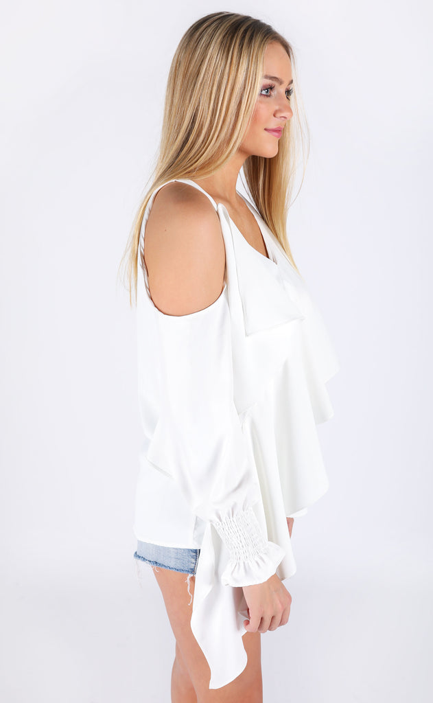 picture perfect ruffle blouse