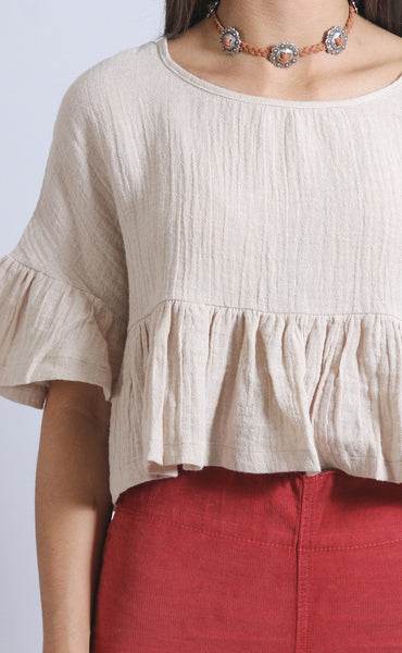 picture this linen top