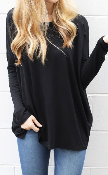 everyday basic piko top - black