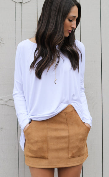 everyday basic piko top - white